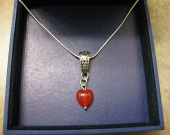 heart necklace, love necklace, ruby necklace, ruby jewelry, ruby heart necklace, red ruby heart necklace, natural ruby, natural stone