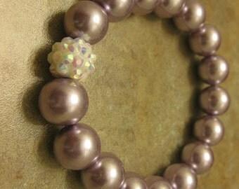 pearl bracelet, pearl jewelry, purple bracelet, glass pearl bracelet,  purple jewelry, purple bracelet