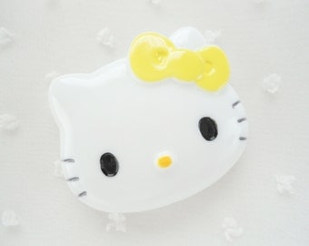 1pc - LL Yellow Bow Kitty Decoden Cabochon (47x38mm) HK10004