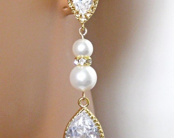 Bridal Earrings, Crystal Rhinestone, Bridal Jewelry, Bridesmaid Gifts, Wedding Jewelry, Long Dangle, Bridesmaids Jewelry
