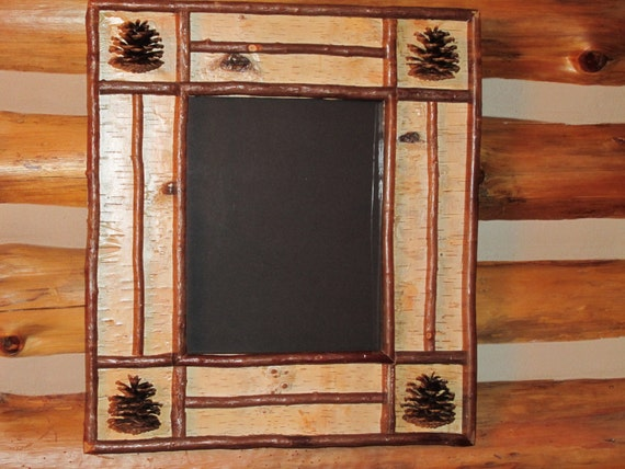 Rustic birch and twig frame