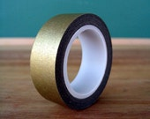Gold  Washi Tape -15mm x 10m - Pretty Gold Washi for Crafts - MyLittleOtter