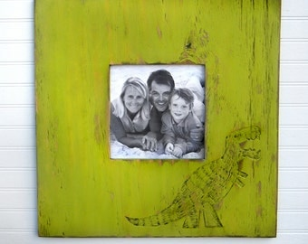 Rex Picture Frame Large Picture Frame 18 inch Square Frame Dinosaur Frame