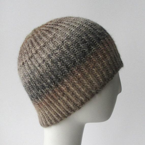 Knitting Pattern Reversible Hat : Knit Hat Pattern // Twisted Rib Reversible Hat - pattern only - PDF from shop...