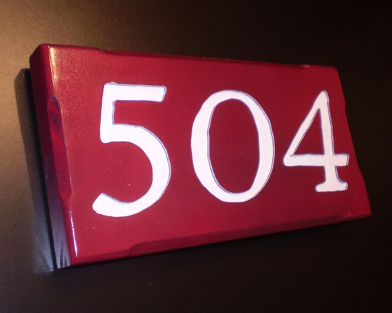 House Number Sign - Engraved in Wood, Have it Your Way  - Attach to Mailbox, Fence Post or Tree.