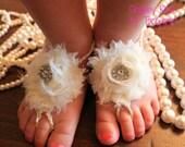 Barefoot Sandals Shabby Rose Ivory