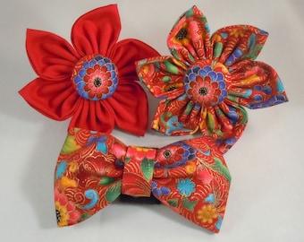 Dog Flower, Dog Bow Tie, Cat Flower, Cat Bow Tie - Florentine