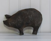 Primitive Pig, Black Pigs, Pig Bowl Filler, Pig Tuck, Shelf Sitters, Primitive Black Pigs