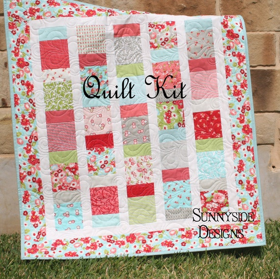 Quilt Kit Ruby Baby Girl Quilt Backing Included Charm Pack