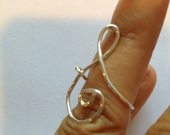 Size 7 Music Treble Clef Knuckle ring, Sterling silver 18g, Etsy jewelry, Lilyb444