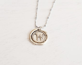Personalized Initial Necklace, Letter Charm Necklace,Monogram Jewelry, Silver Necklace, Bridesmaid Gift,Name necklace, best friend necklace
