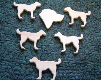 Wedding BOUTONNIERES - DIY - Ready to finish Your WAY - Hand Carved Dogs - Groom is The Top Dog plus 5 Dogs for Grooms Men