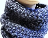 Infinity Scarf - Cowl - Denim Navy Blue - Women's Accessories - Fall Fashion - Scarves for Ladies