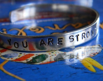 You Are Stronger Than You  Think,  a bracelet for all tough times