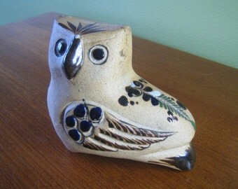 Hand Painted Ceramic Owl made In Mexico