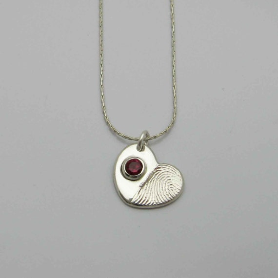 timeless touch fingerprint jewelry silver finger print necklace with by 4599
