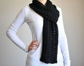 Black Lace Scarf - RESERVED