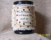 Inspirational Hand painted Recycled  Tin Cans