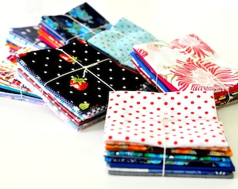 Fabric Bundle of 10, 20x25cm per piece