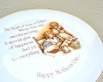 Happy Mother's Day Holly Hobbie  Commemorative Edition Plate - 70's Vintage Retro Cookie Platter - Holly Hobby Cottage Chic Sister Gift Dish