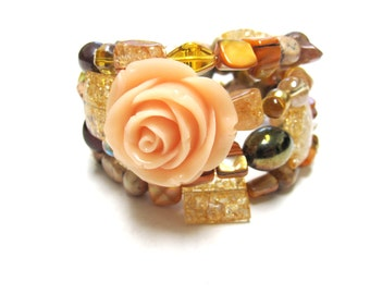 Gypsy Queen Bracelet Day of the Dead Rose