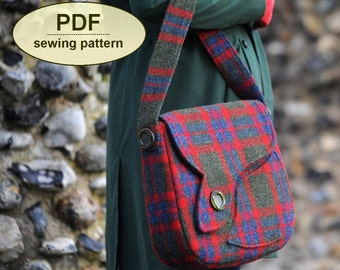 Sewing pattern to make the Sudbury Saddle Bag - PDF pattern INSTANT DOWNLOAD