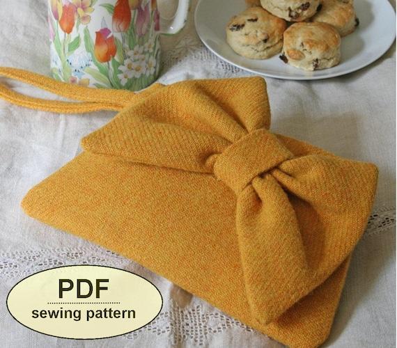 Sewing pattern to make the Bon Bon Clutch Purse - PDF pattern INSTANT DOWNLOAD