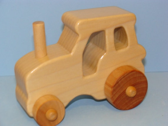 Toys Are Us Wooden Toys : Items similar to wooden toy farm tractor medium on etsy