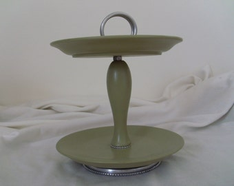 Upcycled Two Tiered Plate Server