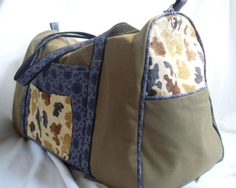 Brown and Gray Ranch Cowboy Overnight Bag