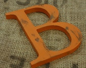 "8""distressed wooden letter--CHOOSE LETTER/COLOR--nursery decor"