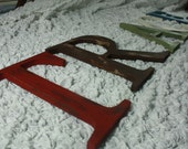 "8"" Distressed 5 letter word- you CHOOSE color/word 8"" wooden letters"