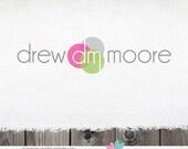 Premade Logo design- business logos shop logos photography logo logo for shop  dots initials Logo / Watermark Design Name Text Logos