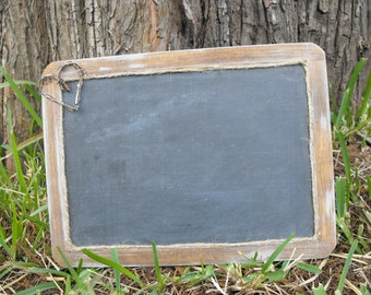 Wooden Slate Double Sided  Chalkboard 7 X 10  Sign Distressed Rustic Inspired Country Chic Christmas Photos