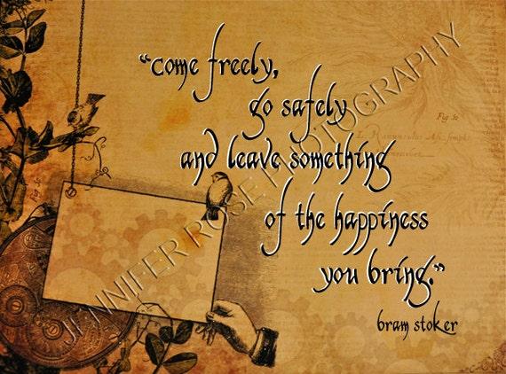 Bram Stoker Steampunk Victorian Goth Quote By