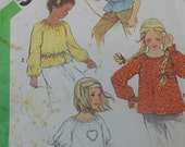 girls pullover top pattern uncut simplicity  5394