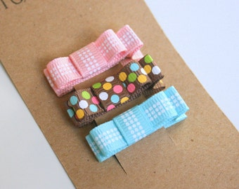 Baby Hair Bows, Hair Clips for baby, Infant Hair Clips, Pink, blue, brown hair clips -Toddler, Tween, Teen, Adult - 2 SIZES