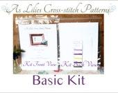 "Basic Cross stitch Kit ""Trust in the Lord"" - Bible Verse Cross-stitch Pattern - Beginner Cross-stitch Kit - Childrens Craft Kit"