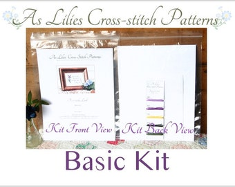 "Basic Cross stitch Kit ""Trust in the Lord"" - Bible Verse Cross-stitch Pattern - Beginner Cross-stitch Kit - Childrens Craft Kit"