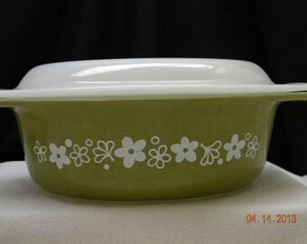 Pyrex Spring Blossom Casserole Dish 1 1/2 qt. kitchen collectibles