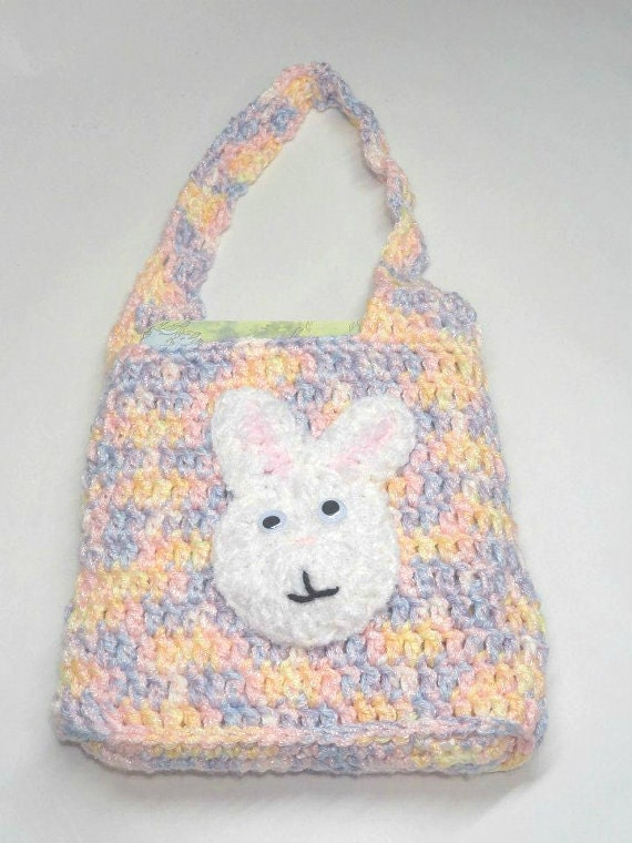 ... bag crochet, Girl Tote Bunny, Lunch bag for girls On Sale on Etsy