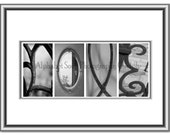 Your Name or any Custom Word - Architectural Alphabet Letter Word Art Unframed Gift for Wedding Aniversary Birthday wall hanging Guelph