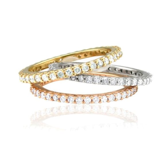 diamond 60ct eternity ring stackable wedding band womens anniversary