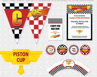 Party Printable Lightening McQueen-ish Party Theme - Personalized Printable
