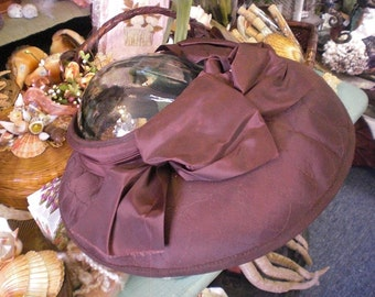 Brown Open Topped Wide Brimmed Hat