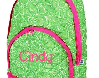 Personalized Custom Embroidered Quilted Backpack Book Bag Elementary Preschool Dance Cheer Gym Gymnastic