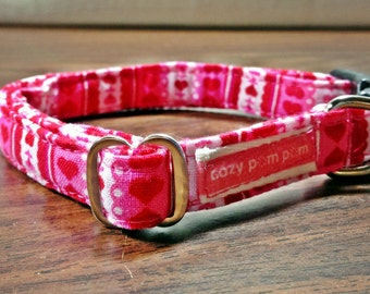 Heart Blossoms - Eco Dog Collar