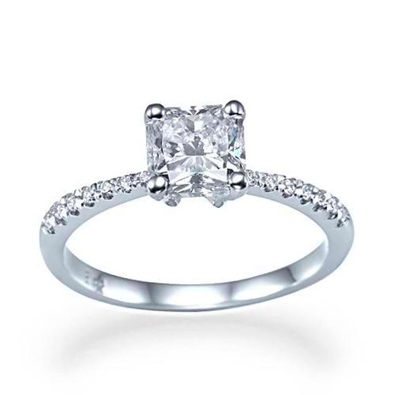 0 87 carat d si1 lioness simple square princess cut by
