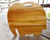 Elephant Teak Wood Cutting Board Serving Board Kitchen Present Premium Quality Wood