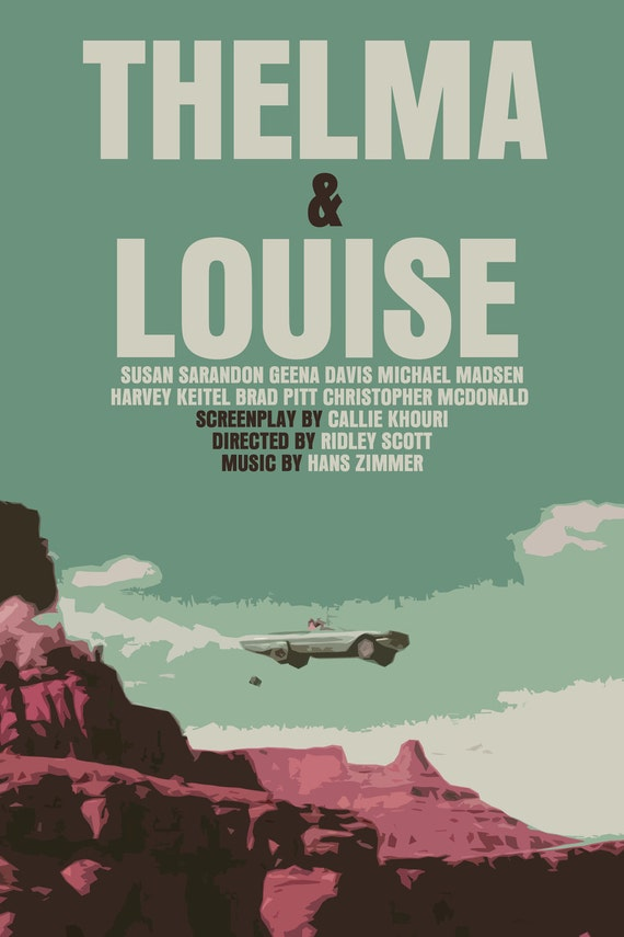 ridley scott movie poster set thelma amp louise by